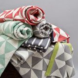 sea foam!!!  Great site for designer bedding | Sea Foam Wind Farm Patterned Throw
