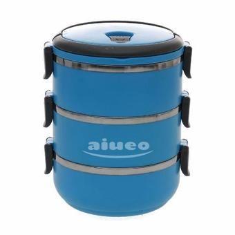 Belanja AIUEO Lunch Box Stainless Steel - Rantang 3 Susun - Blue Indonesia Murah - Belanja Wadah & Penyimpan Makanan di Lazada. FREE ONGKIR & Bisa COD.