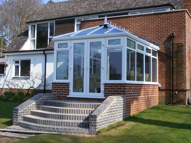 Edwardian Conservatories with steps. http://www.finesse-windows.co.uk/conservatories.php