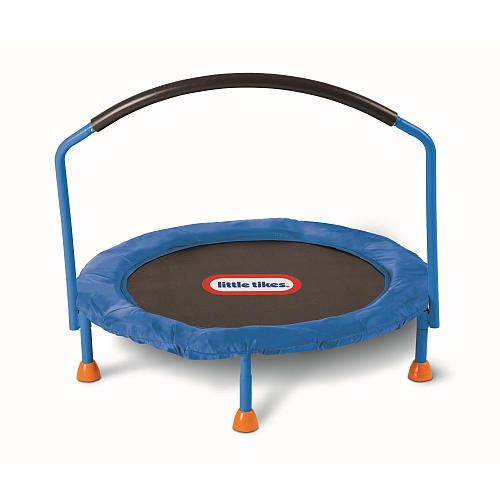 Little Tikes 3 ft. Trampoline. The girls would love a little indoor trampoline like this for the cold winter months.