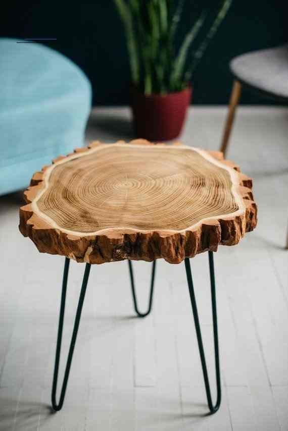 Beistelltisch Live Rand Tisch Beistelltisch Leben Rand Couchtisch Holzscheibe Haarnadel Bein Holzschei In 2020 Coffee Table Wood Wood Slab Table Round Wood Table
