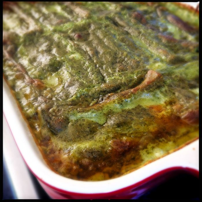 This is the most AMAZING cannelloni ever! Beef, béchamel sauce, plus pesto is a winner! Recipe by Gino D'Acampo.