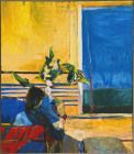 Richard Diebenkorn (American, Bay Area Figurative Movement, 1922–1993): Girl with Plant (Girl with Vase at Window), 1960.