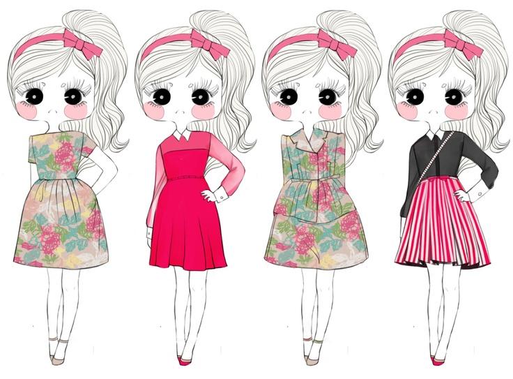 Valentino Resort 2013 Fashion Illustration.