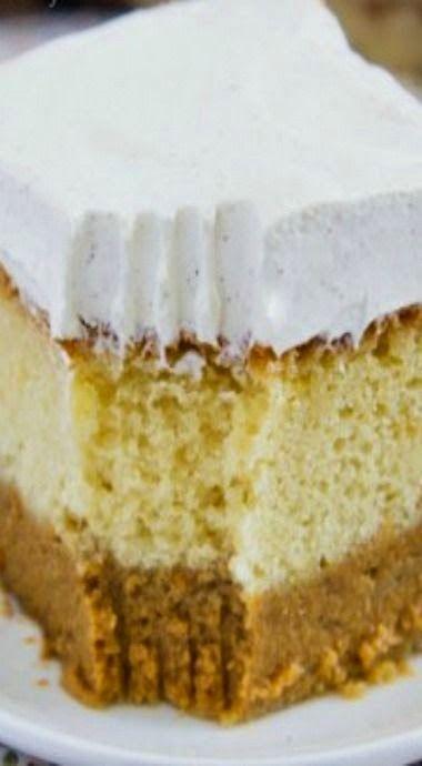 Pumpkin Magic Cake; three delicious layers!