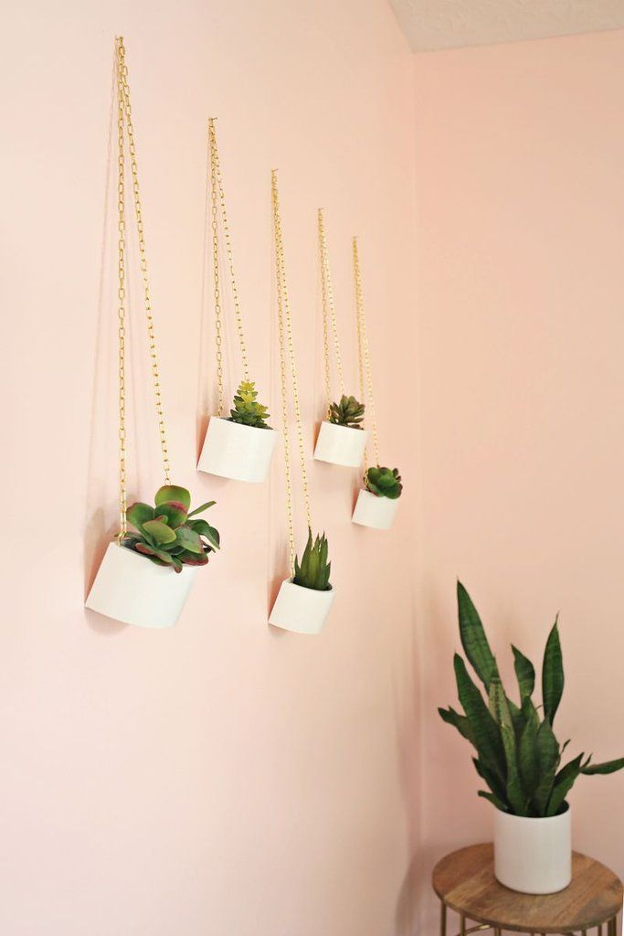 DIY Home Gifts | Hanging Planters: Add a twist to basic wall art by giving one of these handmade hanging planters.