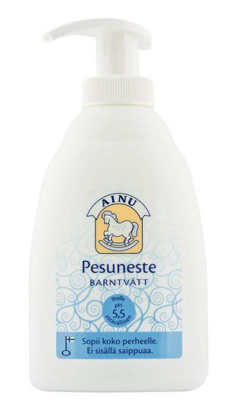Ainu Pesuneste http://www.ainu.fi/tuotteet/ainu-pesuneste