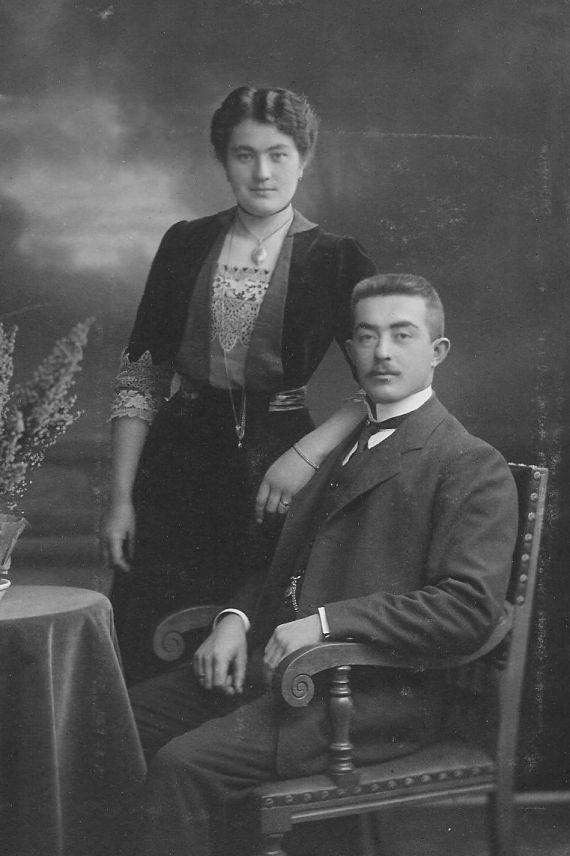 1915 Paar in StettinPolen, Szczecin