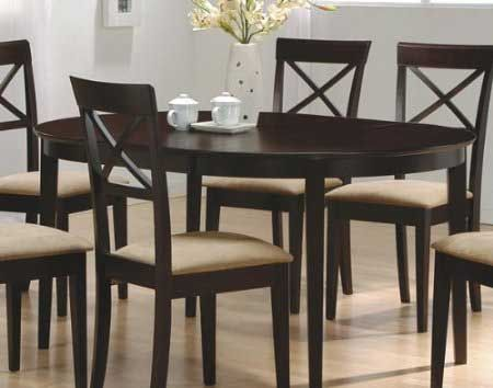 BLACK FRIDAY DEALS DISCOUNT Cappuccino Finish Oval Dining Table Set