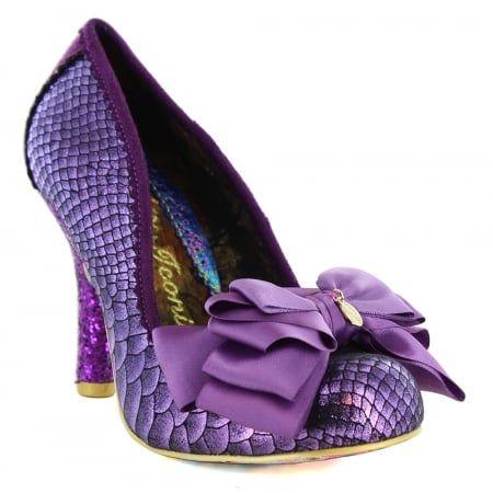 Irregular Choice Ascot 3081-40E Womens Court Shoes - Purple