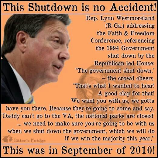It was planned well in advance.  Don't let forget when they start blaming it on others.Accidents, Gop Plot, Church, Offices, Faith, Puree Politics, Pigs, Gop Republican, Shutdown