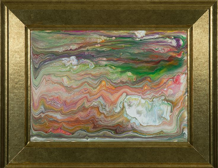 """""""Sedimentary Paint"""" by Heather Miller, WhiteRose's Art. Acrylic and Latex Paint on Canvas Board."""