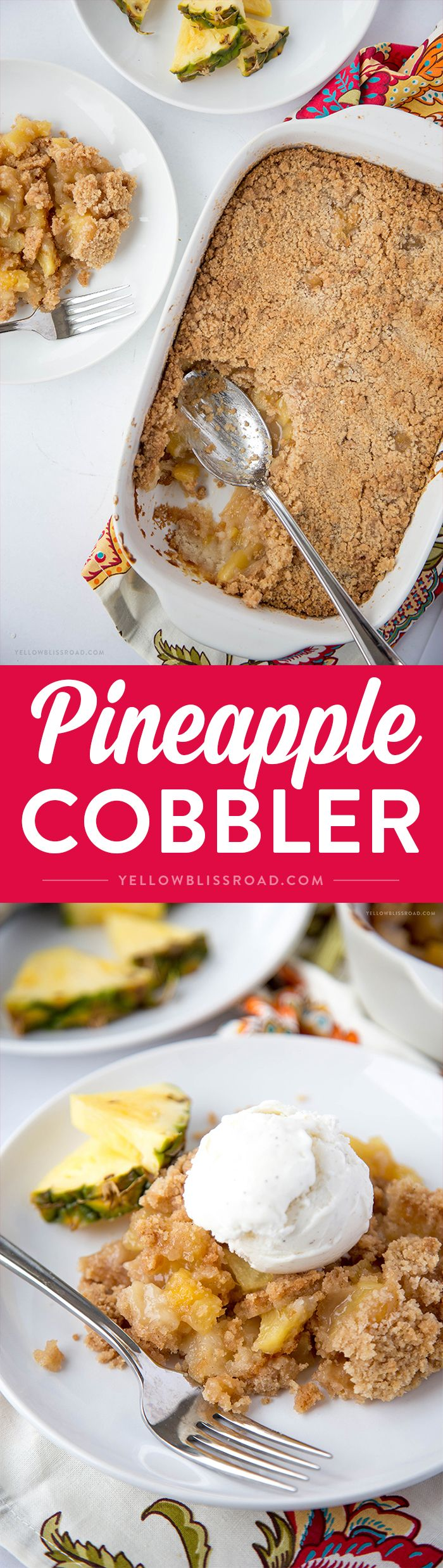 Pineapple Cobbler - a Hawaiian inspired dessert straight from Disney's Aulani Resort!