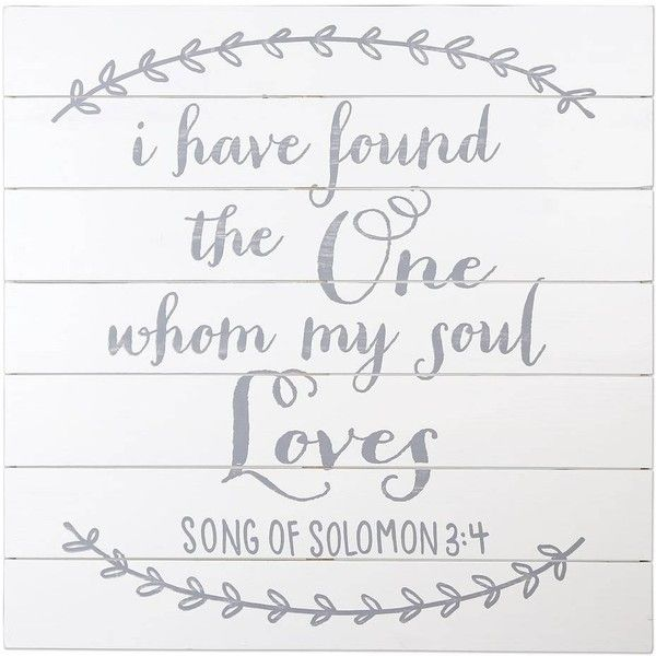 """Sheffield Home \""""My Soul Loves\"""" Wedding Table Decor ($80) ❤ liked on Polyvore featuring home, home decor, white, white wooden easel, wooden home decor, wooden easel, white easel and wood easel"""