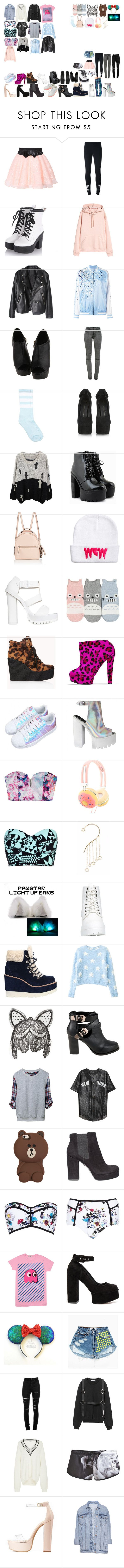 """""""Packing for Tour"""" by kaelighoffical ❤ liked on Polyvore featuring adidas Originals, P.A.R.O.S.H., J Brand, Giuseppe Zanotti, Fendi, Nly Shoes, Forever 21, Senso, Asilio and claire's"""