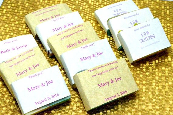 50 Customized Wedding Favor Soaps . 2 oz Soap by NaturalBeautyLine