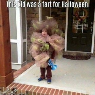 DIY Fart Halloween Costume for Kids...these are the BEST Homemade Costume Ideas for Babies & Kids!