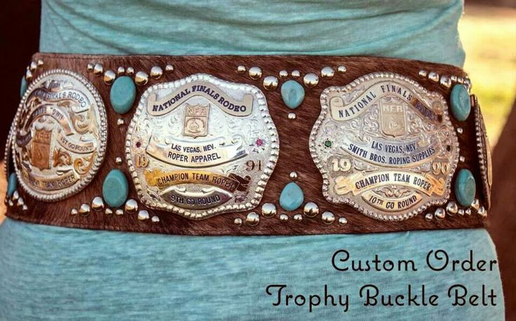Omg..finally you can wear all your buckles at once! Lol!! @Susan Horner Davis !!!!!! We need to work on this I think! :)