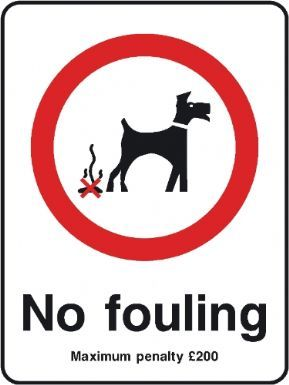 No fouling Maximum Penalty 200 playground safety sign