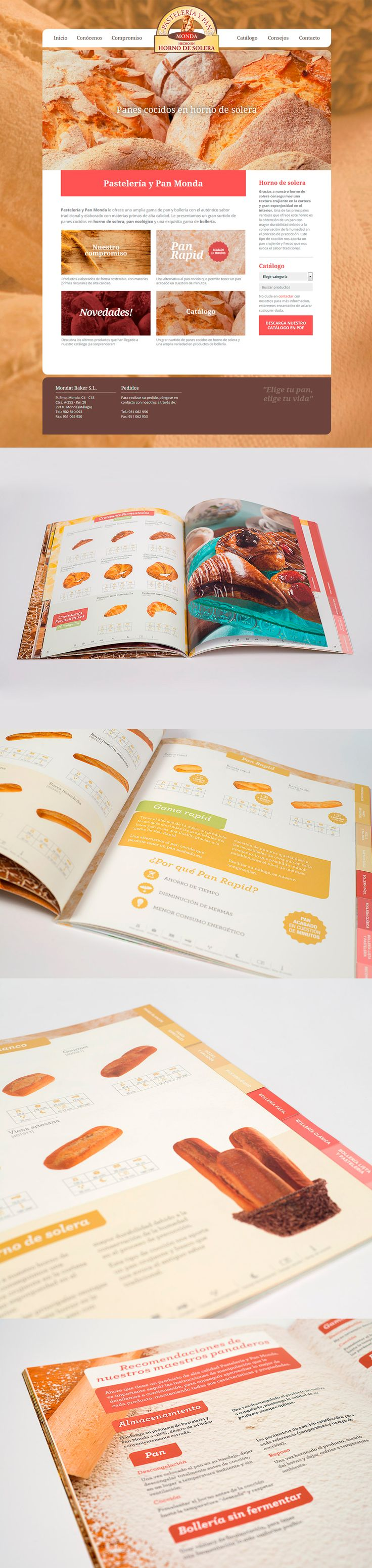 Pastelería y pan Monda ~   Panadería y pastelería tradicional hecho en horno de solera. Así desarrollamos catálogo y web desde Factor ñ.