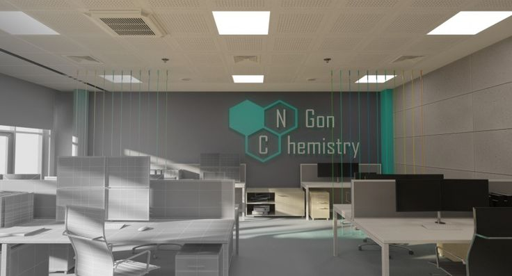 Toothpaste color office. #3dsmax + #V-ray