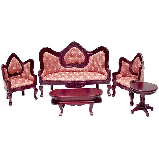 Five Piece Gothic Revival Living Room Set