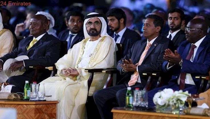 Sheikh Mohammed hosts two African presidents