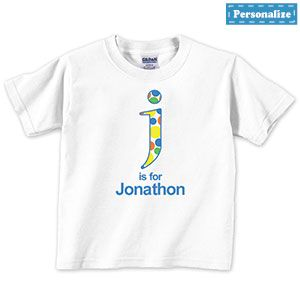 "Product # RGK211 - It's SO EASY to design your own tee! Be Creative ... Have Fun ... Giving this amazing personalized t-shirt.. All Shirts are Gildan Bright-White 100% preshrunk cotton unisex design. With double needle topstitched neckline, sleeve and waist. Personalize with up to 12 characters.Choose your child's size: 2T (13"" W x 16"" L), 3T (14"" W x 17"" L), 4T (15"" W x 18"" L), XS (15"" W x 19-1/2"" L), S (16"" W x 21"" L), M (17"" W x 23"" L), L (18"" W x 24-1/2"" L), XL (19"" W x 26-1/2"" L)…"