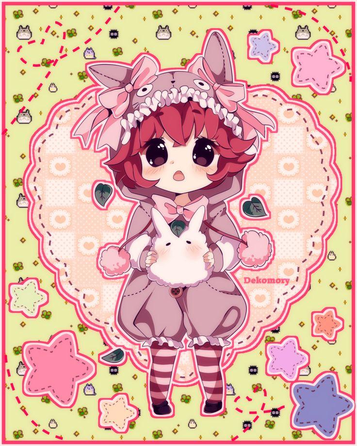 Totoro Girl (OC) by Dekomory Totoro, Kawaii anime, Anime