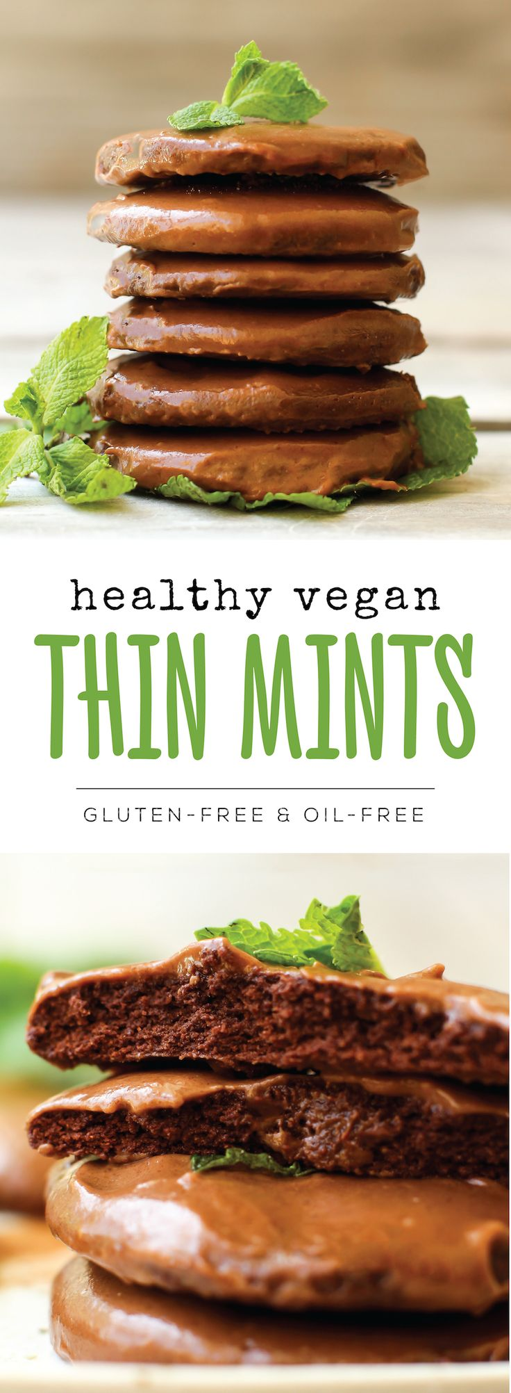 The healthiest vegan Thin Mint recipe that still has all the chocolatey girl…