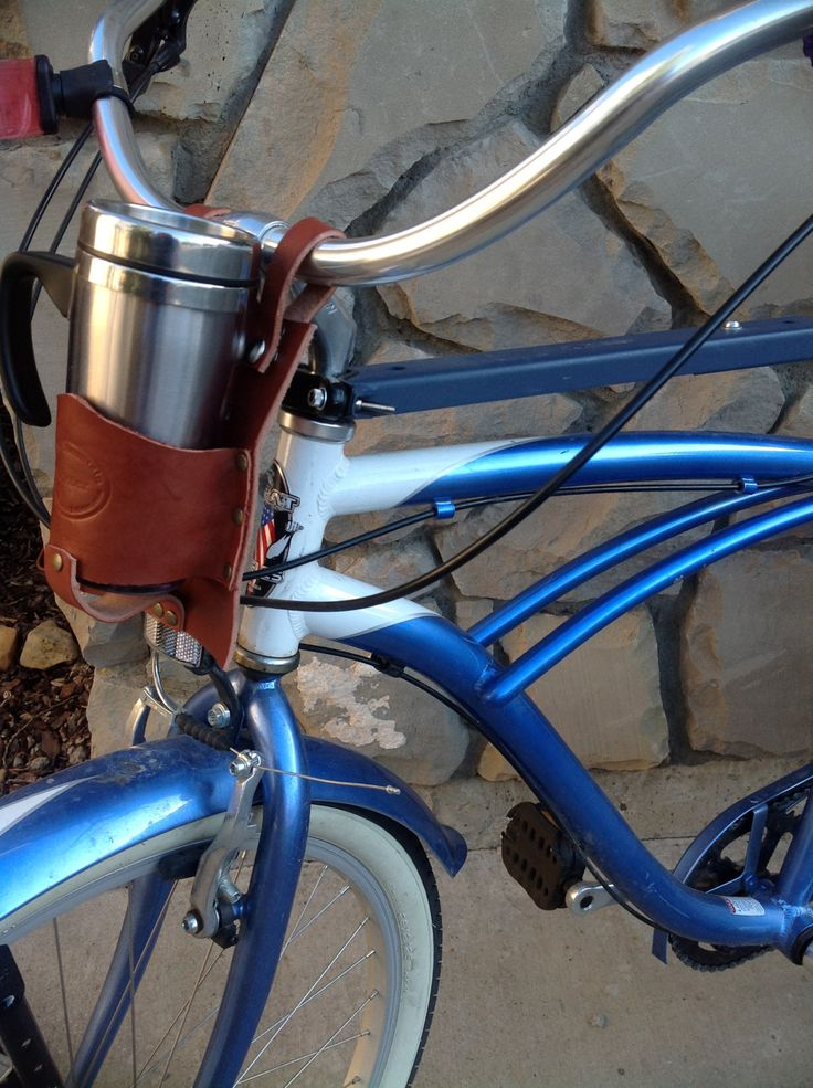 Bicycle Accessories Cup Holder. $25.99, via Etsy.side view