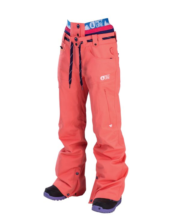 Picture Organic Clothing Ladies Ski Snowboarding Pants Slany Coral | f riders inc