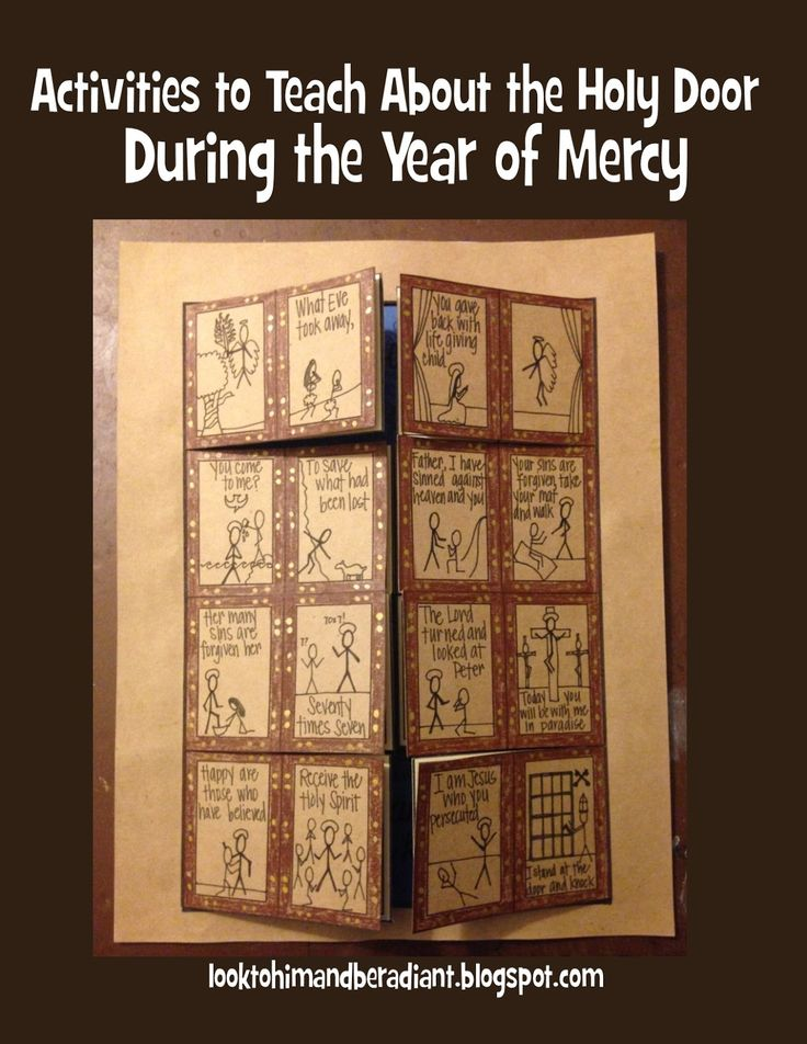Activities to teach about The Holy Door during the Year of Mercy.  Free printables and ideas for exploring the themes of mercy and forgiveness in the Bible.
