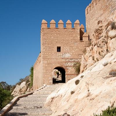Almeria city attraction - Alcazaba castle
