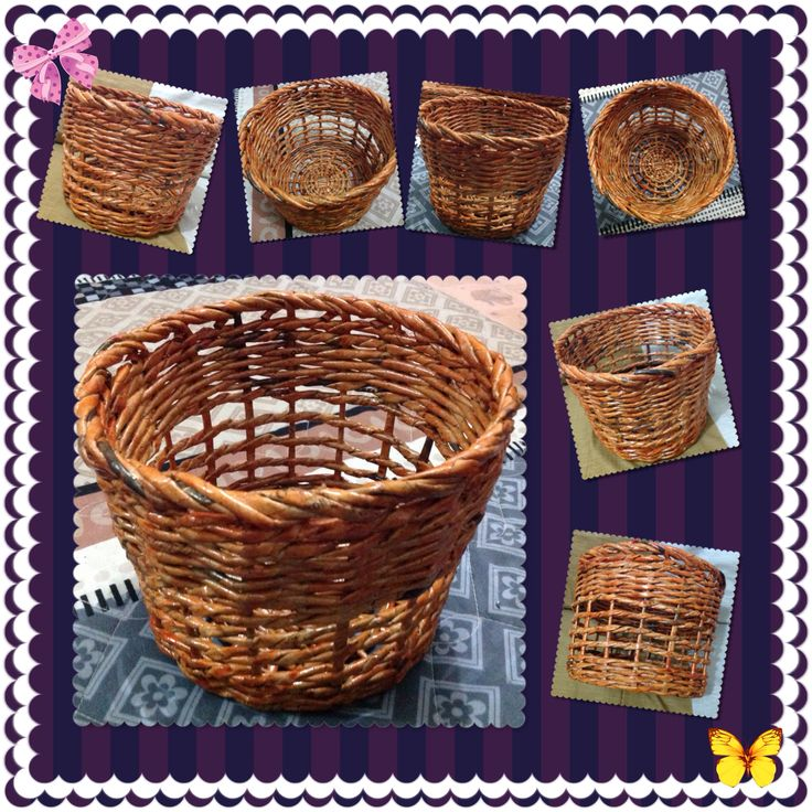 Nice basket made of recycled old newspaper. Marma store collections. Instagram : marmaestore.