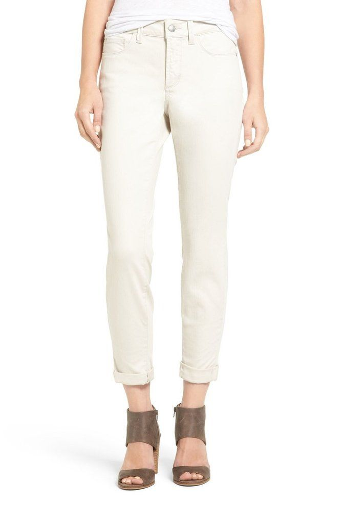 NYDJ Convertible ankle jean can be worn rolled or unrolled.  A great sandy summer colour.