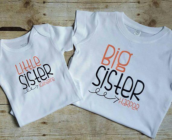 Big sister little sister shirts sibling shirt sisters