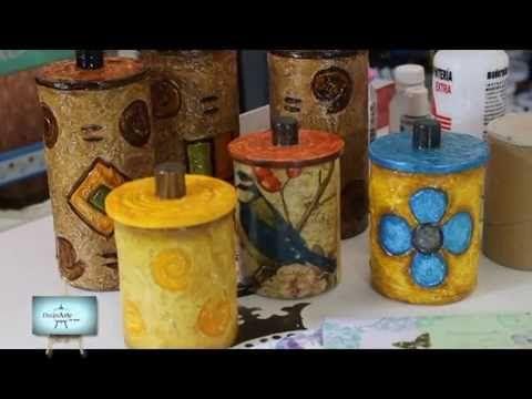 Lindisimo reciclado !!! azucarera y yerbera para usar y adornar nuestra ...