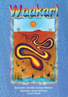 The Rainbow Serpent and how he brings rain    Waakarl is the story of the Rainbow Serpent and how he brings rain to the people of Perth in the Swan River area.  The book is a bilingual title in Noongar & English. book and cd $15. , k'ching :)