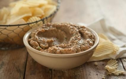 Caramelized Onion Dip // Lightened up with tofu and Greek yogurt! I'm going to have to try this!