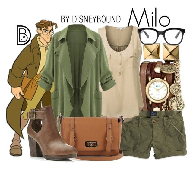 Milo by leslieakay on Polyvore featuring J.TOMSON, American Eagle Outfitters, Miss Selfridge, Warehouse, La Mer, Waterford, Forever 21, disney, disneybound and disneycharacter