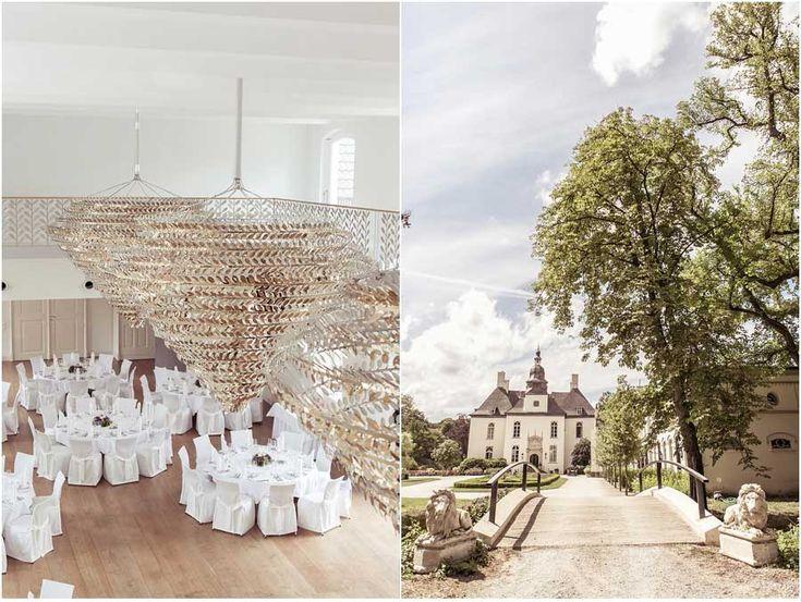 Hochzeit, Hochzeitssaal, Saal, Esssaal, gold, weiß, schick, elegant, Schloss Gartrop, Hünxe, Foto: Violeta Pelivan
