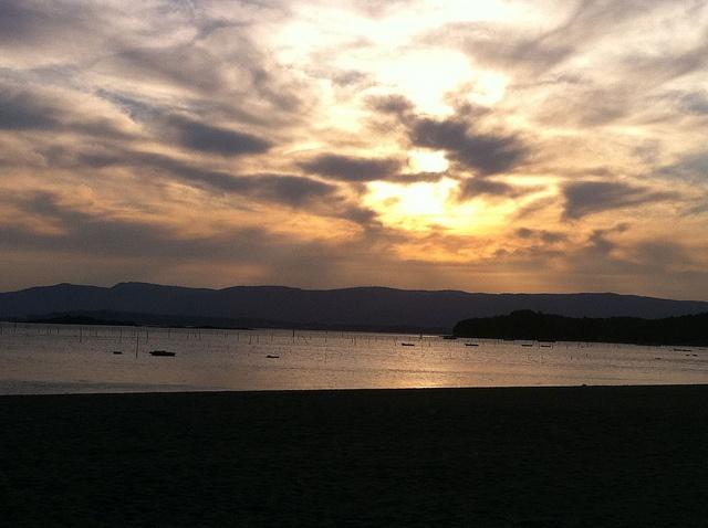 Atardecer en Carril, pueblo costero situado en las Rias Baixas, Villagarcía de Arousa.  (Pontevedra) Galicia.    Alquiler de Coches en Pontevedra http://www.reservasdecoches.com/es/alquiler-de-coches/Pontevedra.html