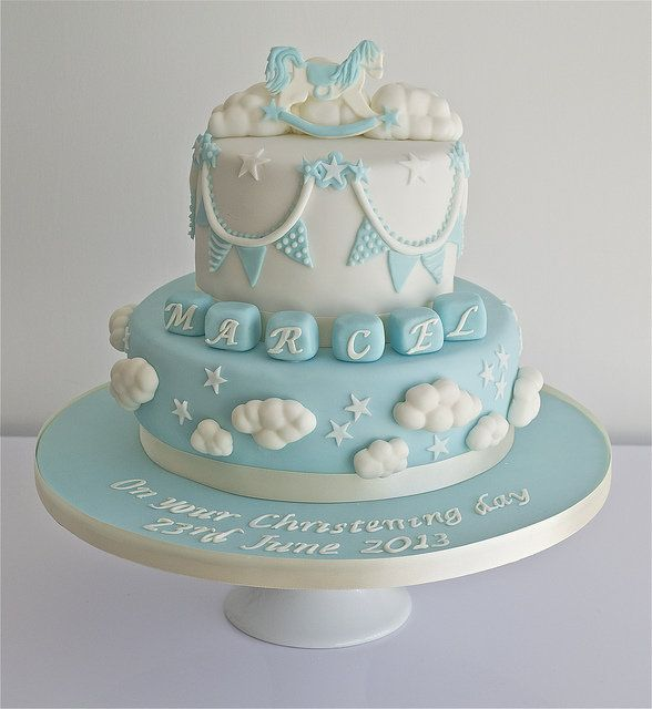 Clouds Christening Cake by Sugar Ruffles