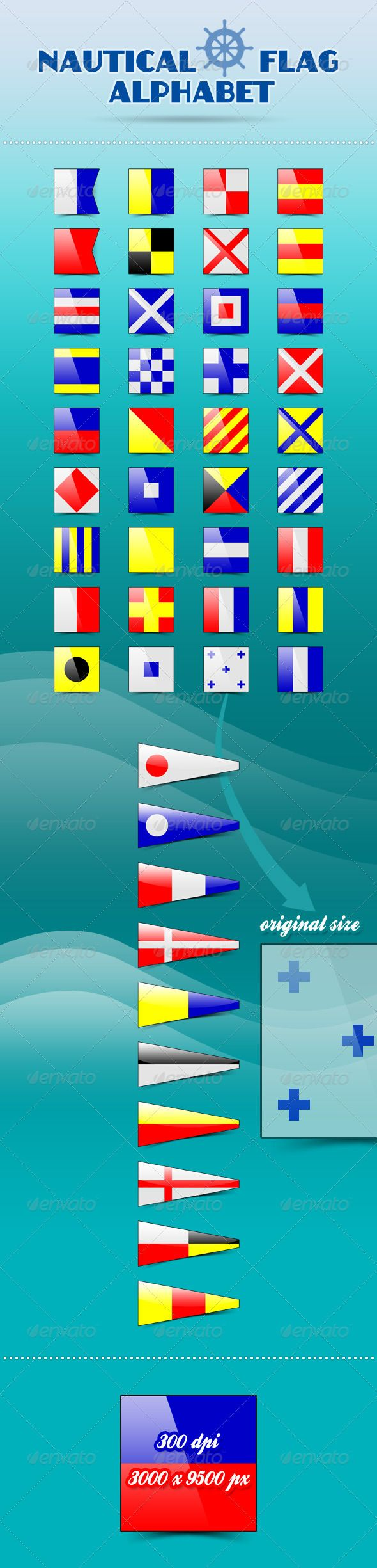 #Nautical Flag Alphabet - Decorative Symbols #Decorative Download here: https://graphicriver.net/item/nautical-flag-alphabet/3004480?ref=alena994