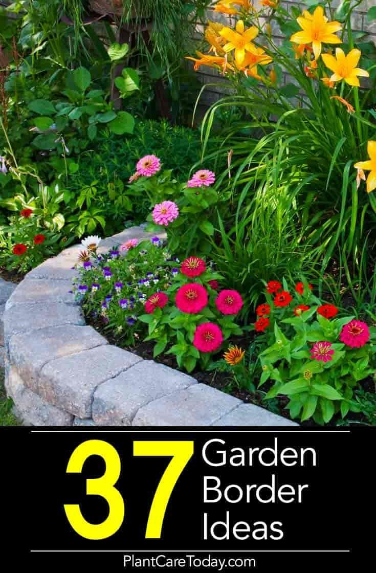 37 Garden Border Ideas To Dress Up Your Landscape Edging Flower