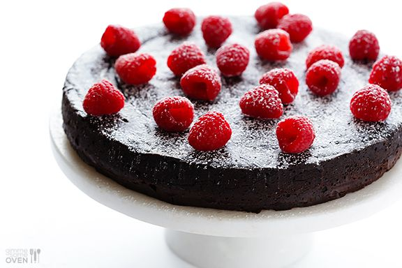3-Ingredient flourless chocolate cake. Use very dark chocolate or possibly unsweetened with some sugar substitute.
