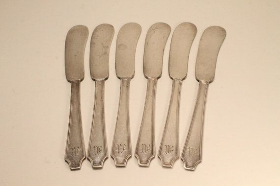 Butter Knives Silver Butter Knives Bread and by ClockworkRummage, $24.00