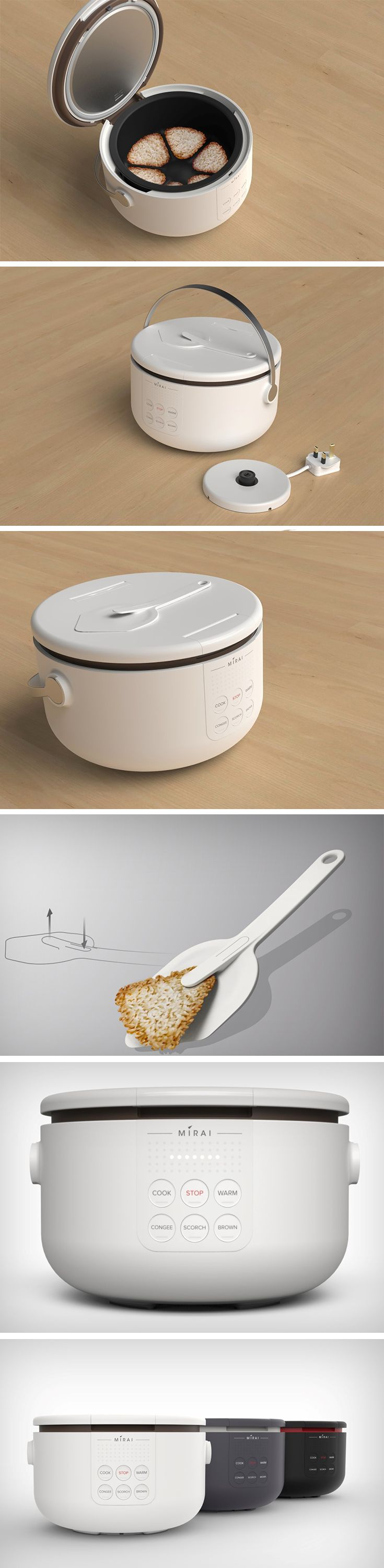 Ronald Tan's idea is that even a small portion of leftover rice is food nevertheless, and should not be treated as waste. The Mirai Rice Cooker is designed to not just flawlessly cook your rice (with multiple settings on its control panel), but it also allows you to transform your leftover rice into crispy rice cakes for a post-meal snack!