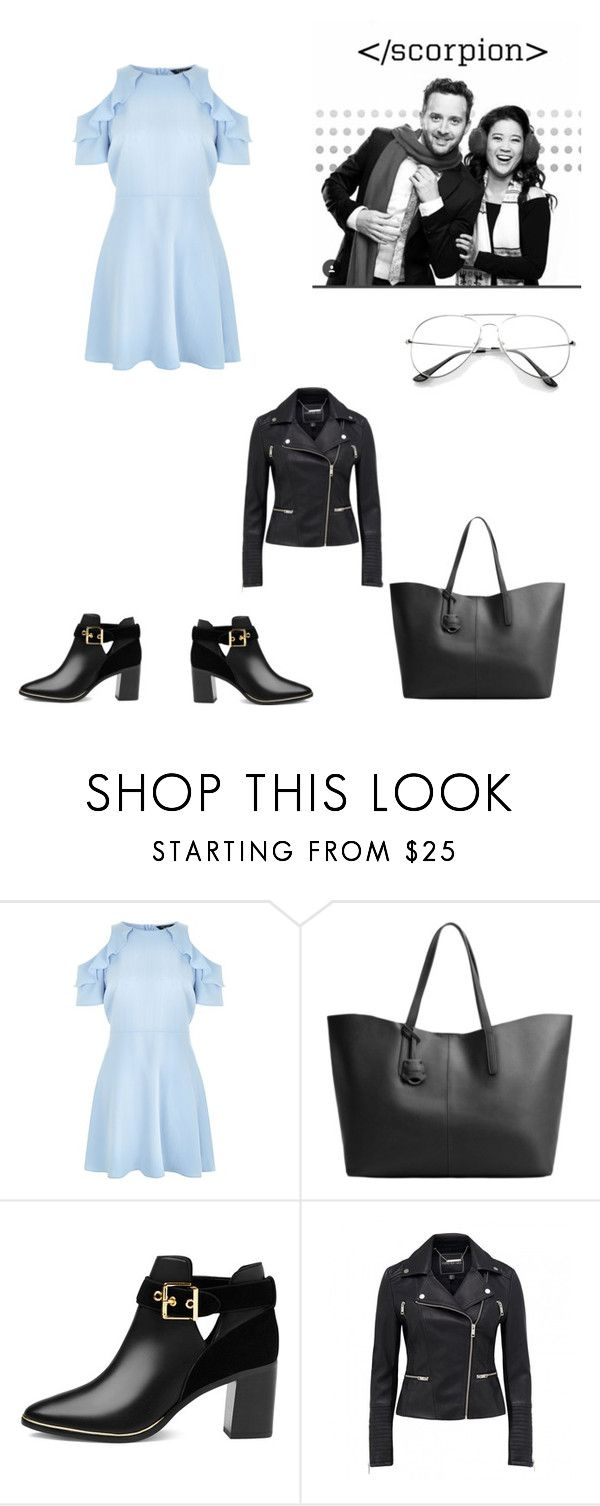 """""""Tournage de Scorpion"""" by anneso88 ❤ liked on Polyvore featuring New Look, MANGO and Ted Baker"""